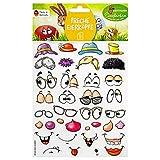 Heitmann Eierfarben Ostereier Sticker mit lustigen Gesichtern